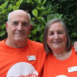 Meningitis Now Community Ambassadors Cliff and Jeanette Bull