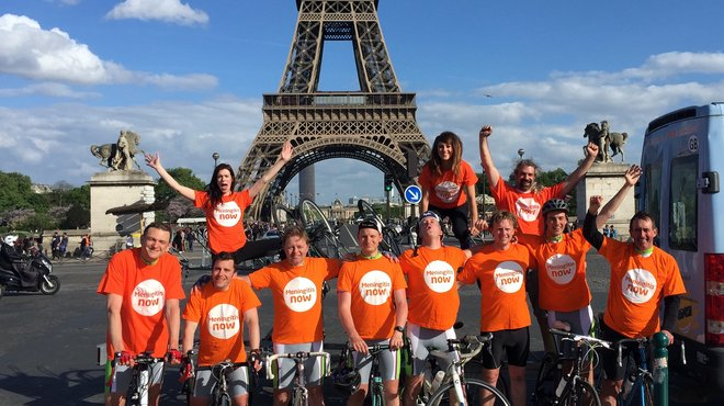Meningitis Now overseas fundraising event - London to Paris ride