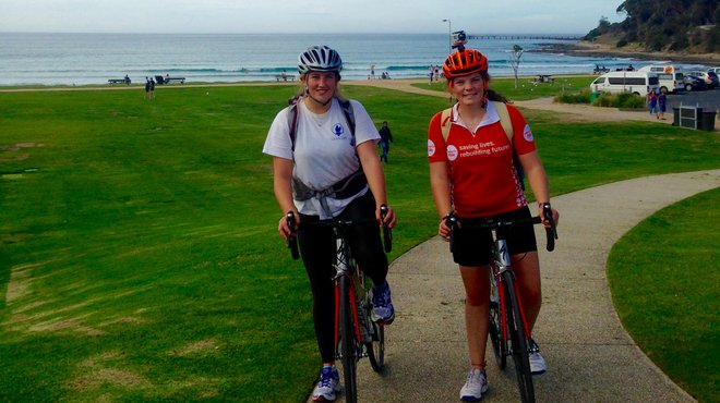 India and Millie fundraising cycle challenge after meningitis