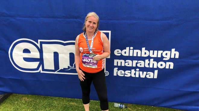 Jennie recommends Edinburgh Marathon to Meningitis Now runners