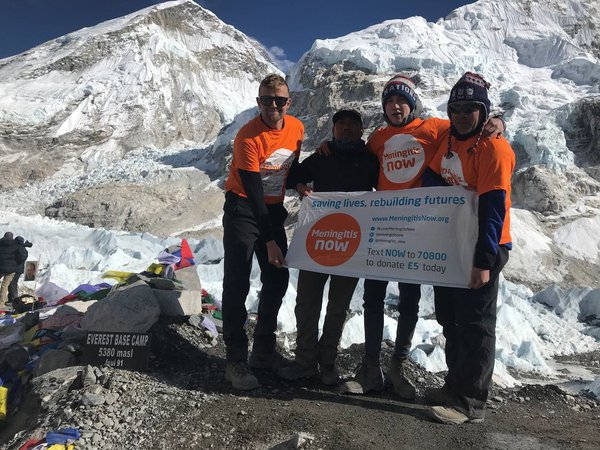 Jonny Brawshaw Everest trek Overseas fundraising event for Meningitis Now