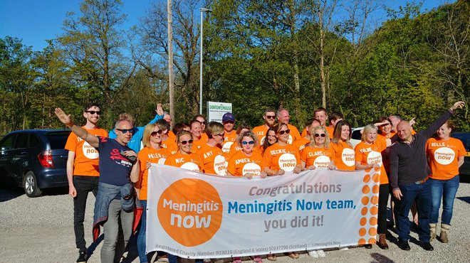 Meningitis Now fundraising event Lake District 8 Peak Challenge