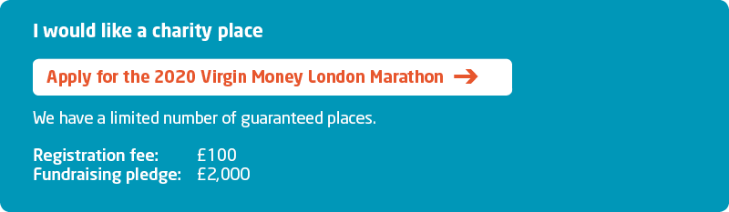 London Marathon 2020 Sign Up - charity place