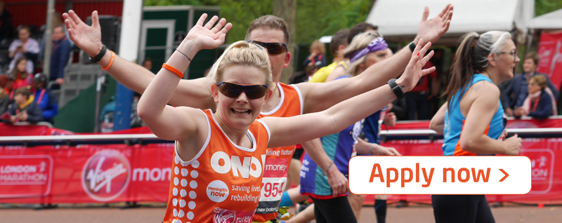 Meningitis Now fundraising event London Marathon 2021 - Apply Now LB