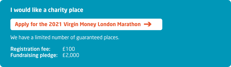 Meningitis Now fundraising event London Marathon 2021 - Sign up - Apply for charity place