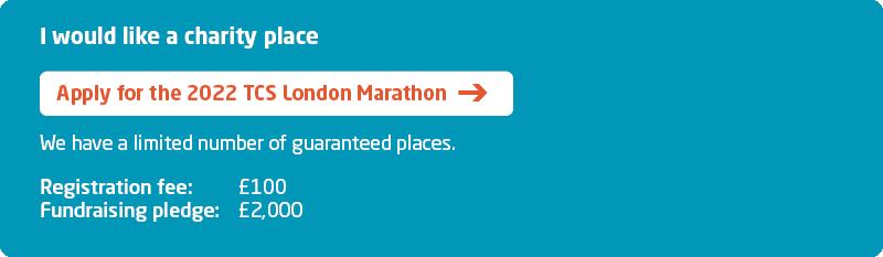 Meningitis Now fundraising event - London Marathon 2022 Sign Up graphic - Charity place