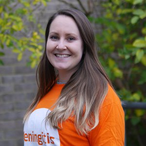 Meningitis Now staff member Laura Weide