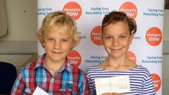 Twins Karl and Lauren host Meningitis Now Five Valleys walkers
