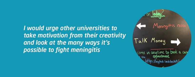 Leeds Beckett MARM meningitis awareness for universities blog
