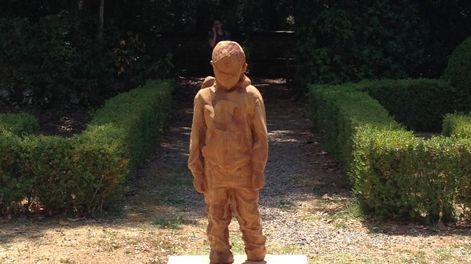 Liam statue - Meningitis Now Chelsea garden