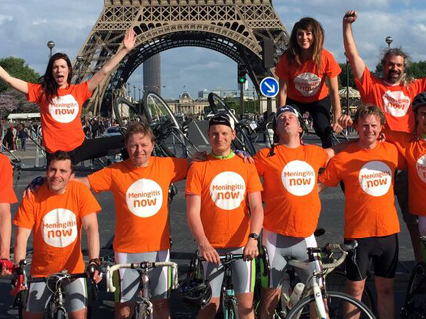 Meningitis Now overseas event London to Paris Bike Ride LB