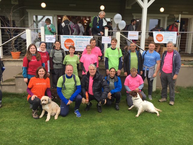 Meningitis Now New Year New You fundraising campaign - corporate Five Valleys Walk