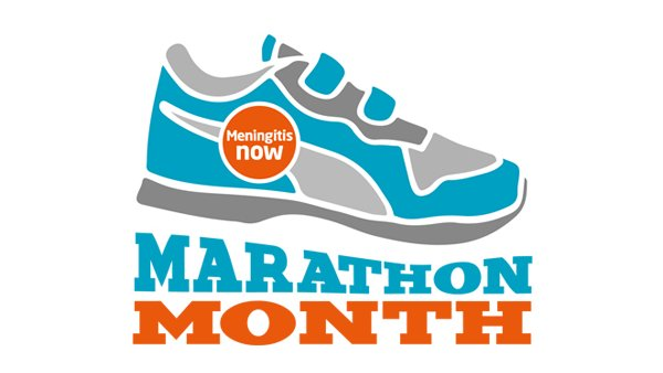Meningitis Now fundraising event Marathon Month logo