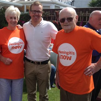 Marion and Jim fundraise for Meningitis Now with annual garden parties