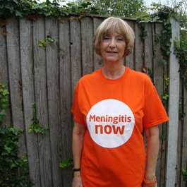 Meningitis Now Community Ambassador Mary Garley