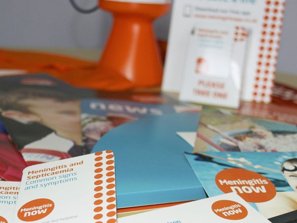 Meningitis Now fundraising and awareness materials