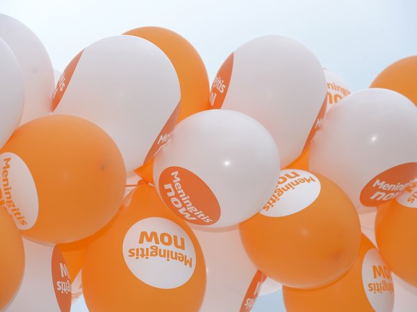 Meningitis Now fundraising awareness - Balloons
