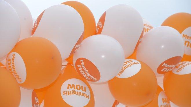 Meningitis Now fundraising awareness - Balloons