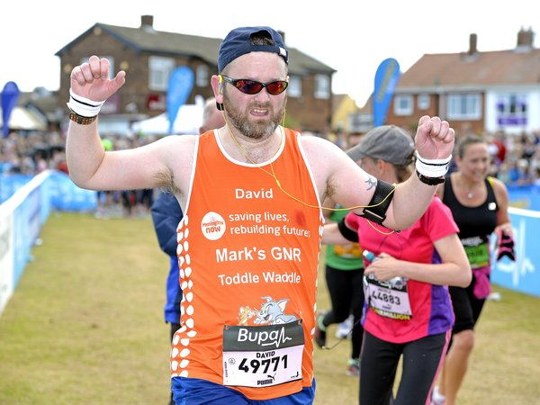 Meningitis Now fundraising event - Great North Run runner