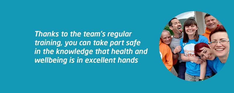 Meningitis Now Safety Team First Aid weekend
