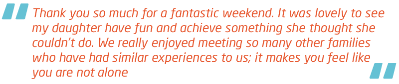 Meningitis Now Support quote - Believe & Achieve Weekend events