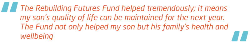 Meningitis Now Support quote - Rebuilding Futures Fund