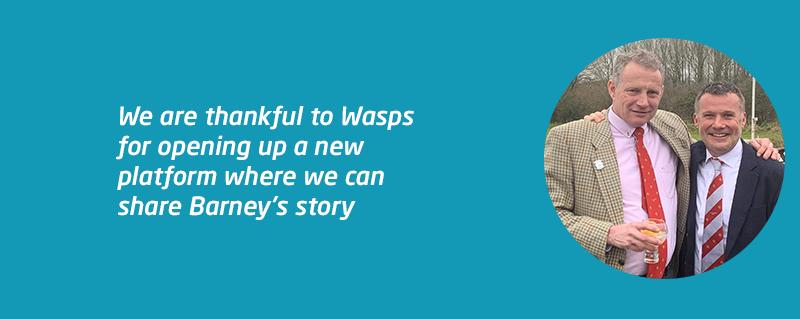 Meningitis Now Trustee Rod Adlington at Wasps rugby fundraiser