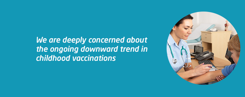 Meningitis Now concerned about childhood vaccine decline