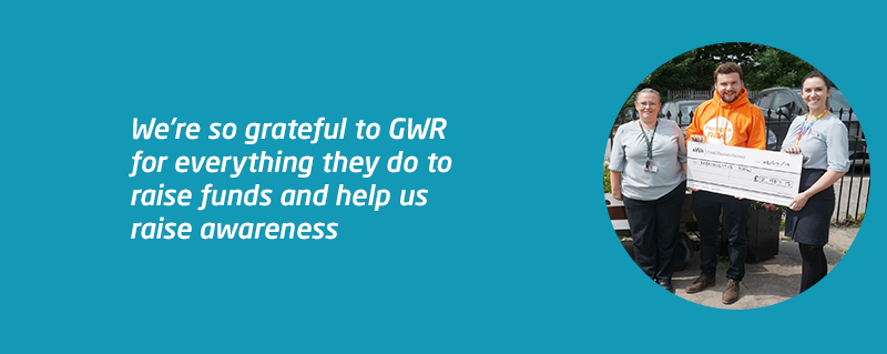 Meningitis Now corporate partners GWR on the right track for fundraising
