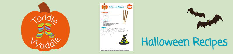 Meningitis Now fundraising events - Toddle Waddle Download link - Halloween Recipes