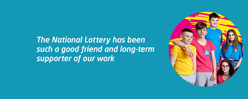 Meningitis Now supporter National Lottery celebrate 25th anniversary.png