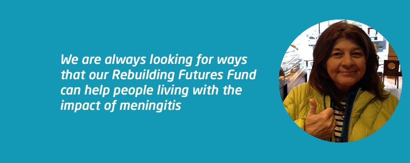 Meningitis survivor Nicola supported by Rebuilding Futures Fund
