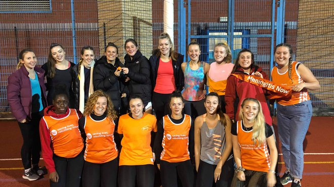 Cardiff student netball team raise awareness of meningitis
