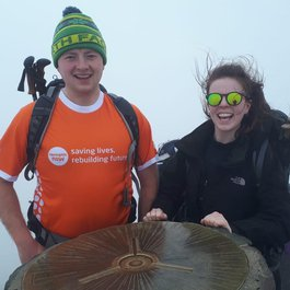 Meningitis survivor Nick tackles Three Peaks