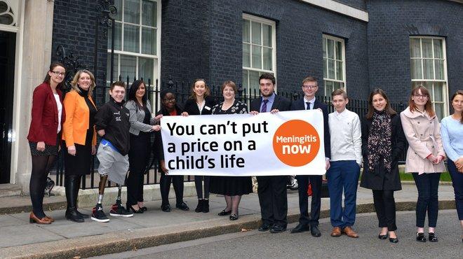 Meningitis Now Beat it Now campaign - Downing Street
