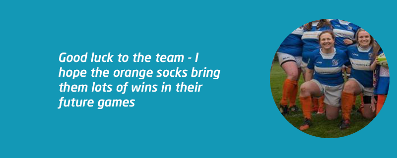Orange rugby socks to raise meningitis awareness blog