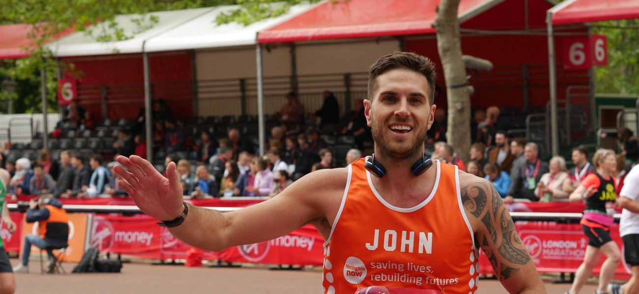 Meningitis Now fundraising event - London Marathon - John