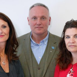 Meningitis Now supporters - parents Michelle Bresnahan, Paul Gentry and Julia Styles