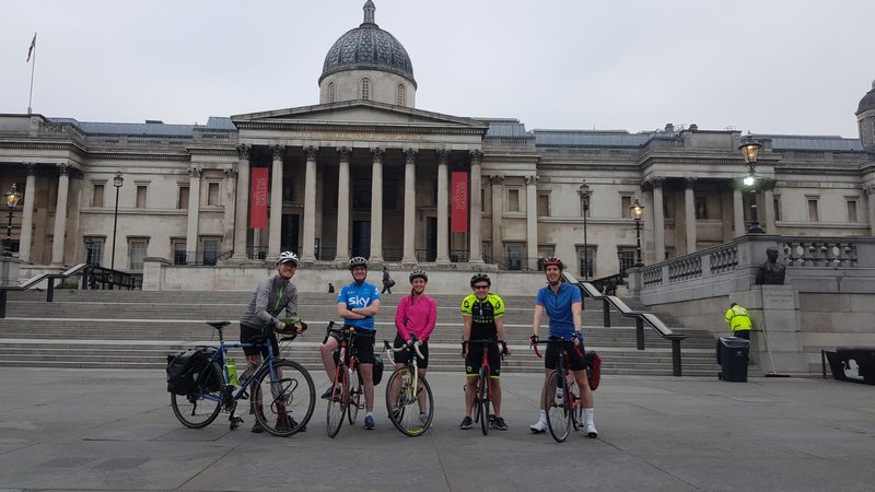 Paris cycles to Paris after daughter survives meningitis