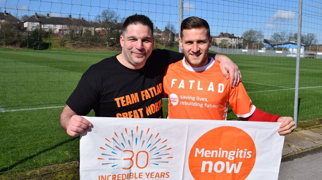 Paul Bayliss fundraising for Meningitis Now