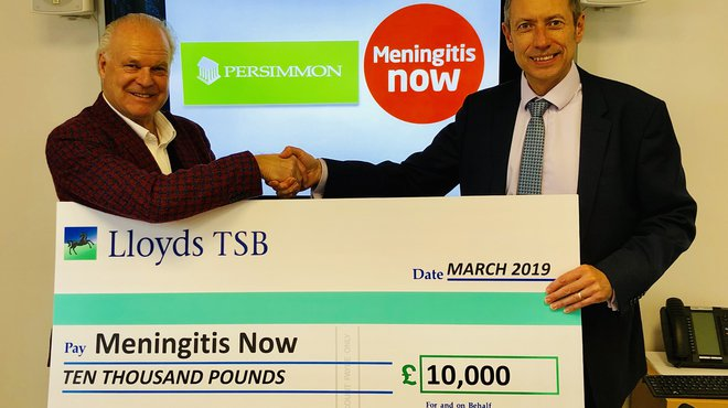 Meningitis Now charity of the year for Persimmon Homes