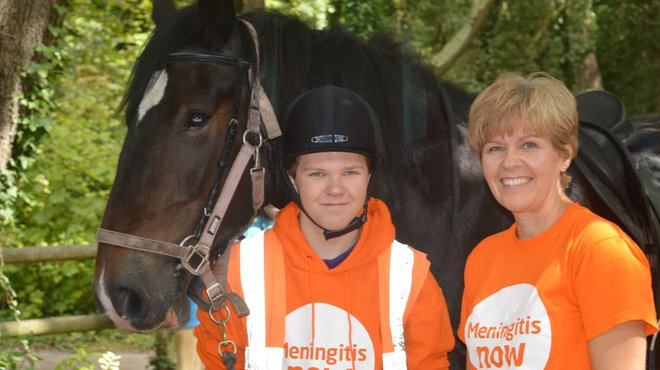 Meningitis Now Community Ambassador Alison and Young Ambassador Huw