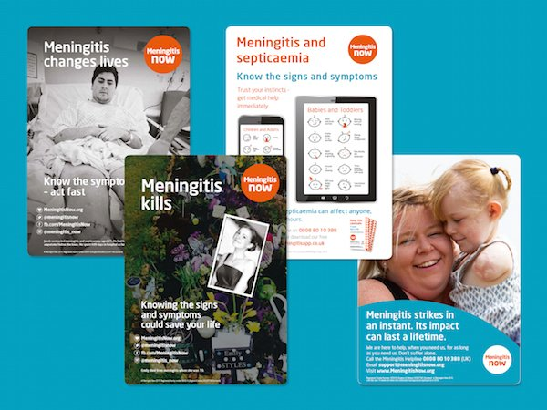 Meningitis Now awareness posters