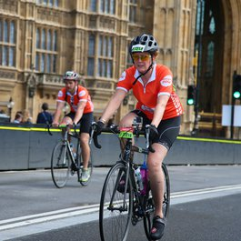 Meningitis Now fundraising event - RideLondon cyclists