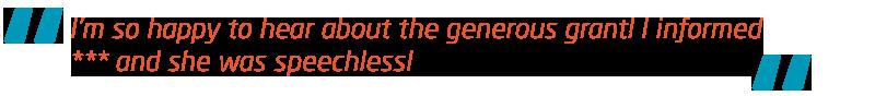 Meningitis Now support - Rebuilding Futures Fund - Quote - Speechless