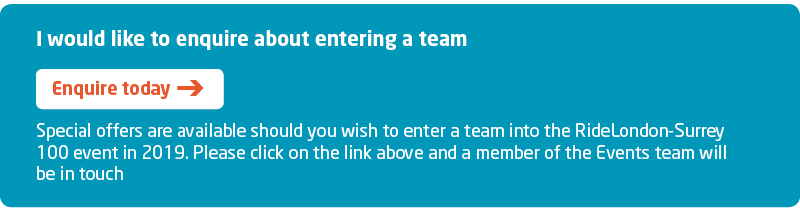 RideLondon 2019 Sign Up Team Place