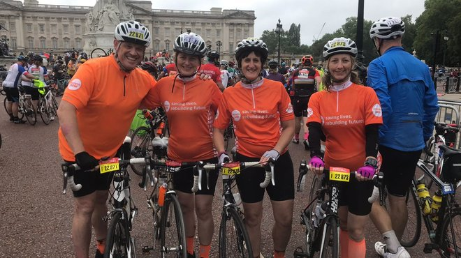 Meningitis Now fundraising event RideLondon-Surrey 100