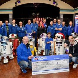 R2-D2 replica in memory of Joanna Yates