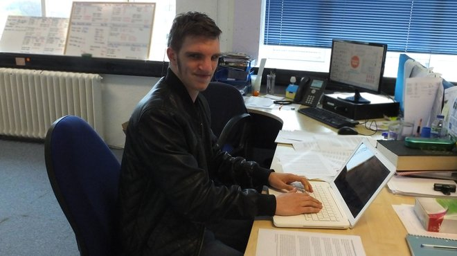 Meningitis Now Young Ambassador Ross Probert visits head office