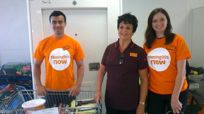 Emerson's Green Sainsburys fundraising for Meningitis Now